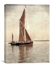 Thames barge Repertor , Canvas Print