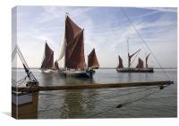 Maldon Barge Match 2010, Canvas Print