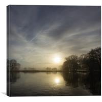 Norfolk Misty Mornings, Canvas Print