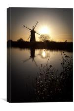 Windmill on river Thurne, Canvas Print