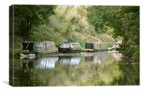 Narrowboats on the Tring Cutting, Canvas Print