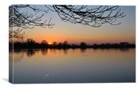 Sunset Over Startops End, Canvas Print