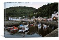 Evening Time at Lynmouth, Canvas Print