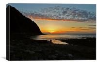 Sunset at Lynmouth , Canvas Print