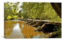 Tarr Steps , Canvas Print