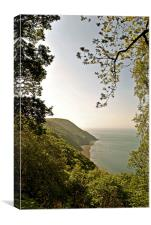 Foreland Point and the Exmoor Coast , Canvas Print