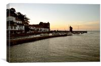 A Lynmouth Evening , Canvas Print