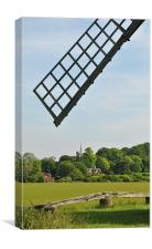 Ivinghoe village,Buckinghamshire from Pitstone Mil, Canvas Print