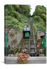 The Lynton and Lynmouth Cliff Railway, Canvas Print