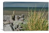On Porlock Beach, Canvas Print