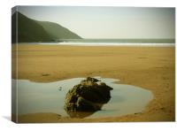 Rock Pool on Putsborough Beach, Canvas Print