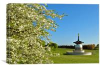 The Peace Pagoda at Willen, Canvas Print