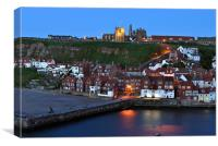 East Cliff, Whitby at Dusk, Canvas Print
