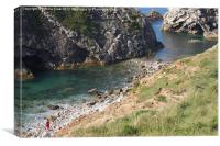 The Stairhole Lulworth Cove, Canvas Print