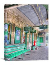 Corfe Castle Station, Canvas Print