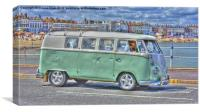 VW By The Sea, Canvas Print