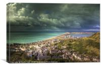 Storm Clouds Over Chesil Beach, Canvas Print
