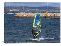 Windsurfing, Canvas Print