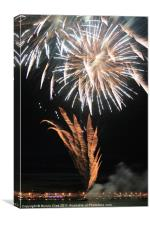 Fireworks over Weymouth Bay, Canvas Print