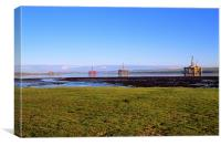 Oil Rigs in Cromarty Firth, Canvas Print