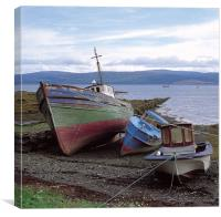 Fishing Boats on Mull, Canvas Print