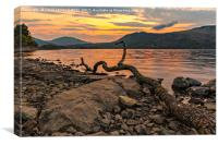 Derwentwater Sunrise, Canvas Print