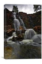 Bleabeck Force - Upper Teasdale, Canvas Print