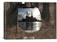 Hole in the wall, Canvas Print