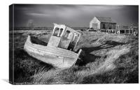 Thornham Boat and Coal Shed, Norfolk, Canvas Print