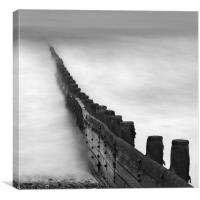 Cromer Beach Groyne, Norfolk, Canvas Print