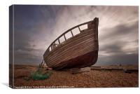 Beached at Dungeness, Kent, Canvas Print