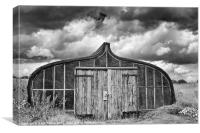 Boat Shed, Lindisfarne, Northumberland, Canvas Print
