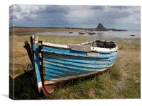 Old Boat, Holy Island, Canvas Print