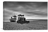 Beached at Aldeburgh, Suffolk, Canvas Print