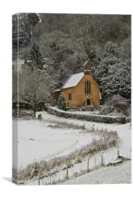 St Blaise in the snow, Canvas Print