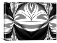 Abstract Fold,Black,White+Grey., Canvas Print