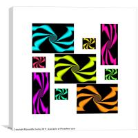 Collage of Abstracts., Canvas Print