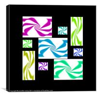 A Collage Of Abstracts,Black., Canvas Print