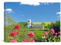 St James Church, Manorbier,Tenby., Canvas Print
