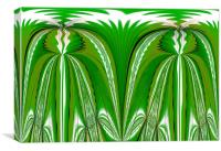 Green Plant Abstract, Canvas Print