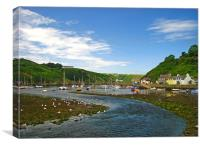 Fishguard Lower Town., Canvas Print