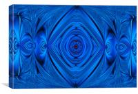 A Blue Extreme Abstract., Canvas Print