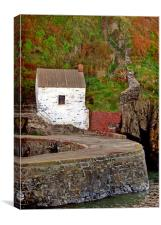 Porthgain.Old Harbour Masters Office., Canvas Print