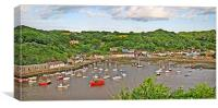 Fishguard Harbour By Day.Wales., Canvas Print