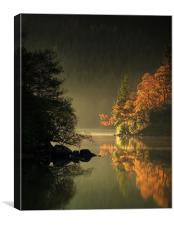 Loch Ard Autumn Light, Canvas Print
