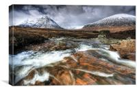 Glencoe from Rannoch Moor, Canvas Print
