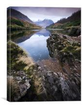 River Etive towards Ben Starav, Canvas Print