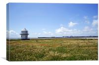 Lifeguards Tower at Sandy Bay, Canvas Print