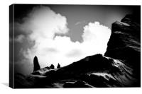 Old Man of Storr Silhouette, Canvas Print
