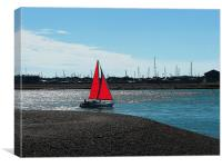 Red Sail, Canvas Print